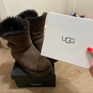 Bailey Button Water Resistant Uggs with cleaner